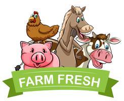 Rótulo de alimentos frescos de fazenda