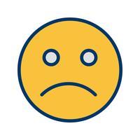 Traurige Emoticon-Vektor-Ikone