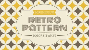 Netter Retro Muster-Vektor