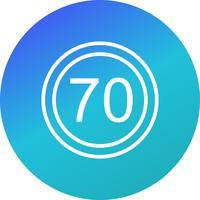Icône de vitesse limite de vecteur 70