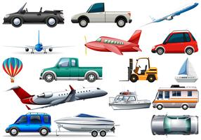 Set of transportation vehicle vector