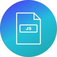 Icona di vettore JS