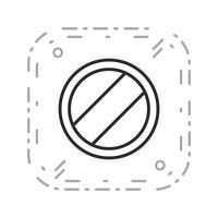 Vektor Nationell hastighetsgräns gäller Ikon