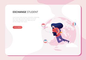 Ilustração de Student Exchange