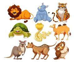 Set of wild animals vector