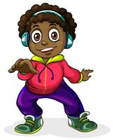 Un jeune homme noir écoutant de la musique