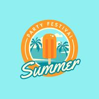 Summer Popsicle Retro Badge vector