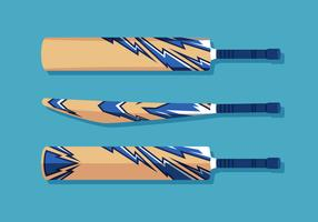 Elektrische blauwe cricket bat vector set