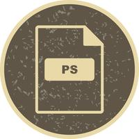 Icône de vecteur PS