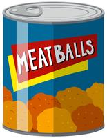 Canned food with meatballs inside