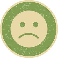 Sad Emoticon Vector Icon