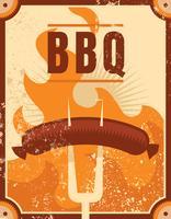 Retro BBQ poster