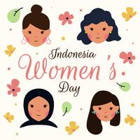 Vector de dia de mulheres Kartini Indonésia