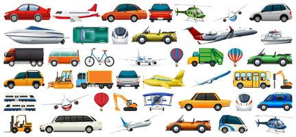 Set of transport vechicles vector