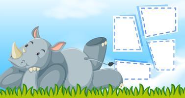 Rhino with a frame