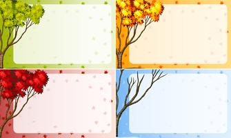 border design with tree in different season vector