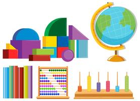 Set of math toys vector