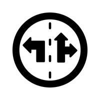 Vector Lane control sign Icon
