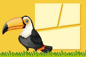 Ein Tukan auf leere Vorlage
