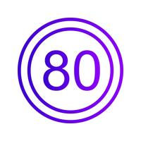 Vektor Hastighetsgräns 80 Ikon