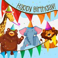 Festa de aniversário de animais selvagens