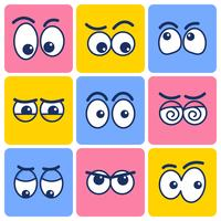 Clipart de olhos dos desenhos animados