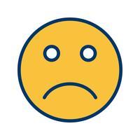 Icona di vettore emoji triste