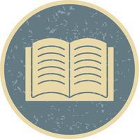 Ícone de vetor de livro aberto