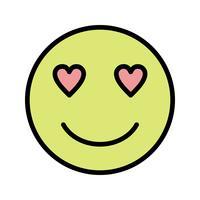 Amour Emoji Vector Icon