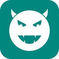 Teufel Emoji-Vektor-Symbol
