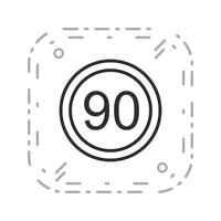 Vector Snelheidslimiet 90 pictogram