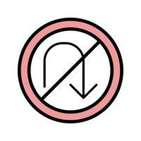 Vector No U-turn Icon