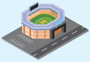 Cricket Stadion Vector Illustratie