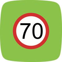 Vector Speed limit 70 Icon