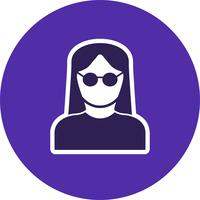 Female Scientist Vector Icon