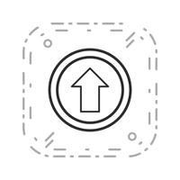 Vector Go straight ahead Icon