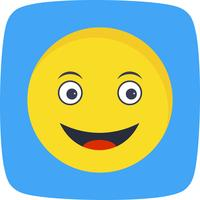 Happy Emoji Vector Icon