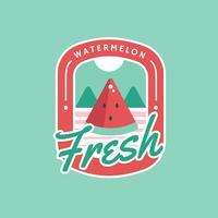 Sommer-frisches Wassermelone-Retro- Abzeichen