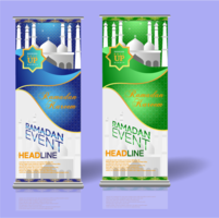 ramadan roll up banner 1 vector
