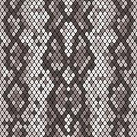 Snakeskin seamless pattern. Realistic texture of snake or another reptile skin. Gray color. Vector illustartion