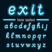 Handwritten Vector Neon Light Alphabets