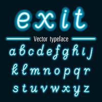 Handgeschreven Vector Neon Light-alfabetten