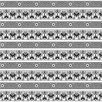 ethnic seamless striped pattern background in white and black colors