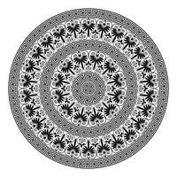 Monochromatic ethnic seamless textures. vector