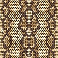 Snakeskin seamless pattern. Realistic texture of snake or another reptile skin. Beige and brown colors. Vector illustartion