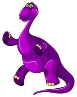 Dinossauro roxo em pé
