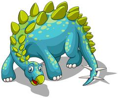 Blue dinosaur with spikes tail vector