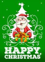 Feliz natal, cartão, com, santa