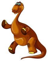 Braquiossauro marrom com pescoço comprido
