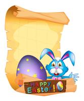 Paper template for Easter holiday vector
